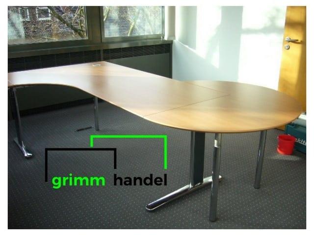 Schreibtisch/Freiformschreibtisch mit Besprechungsecke von ...