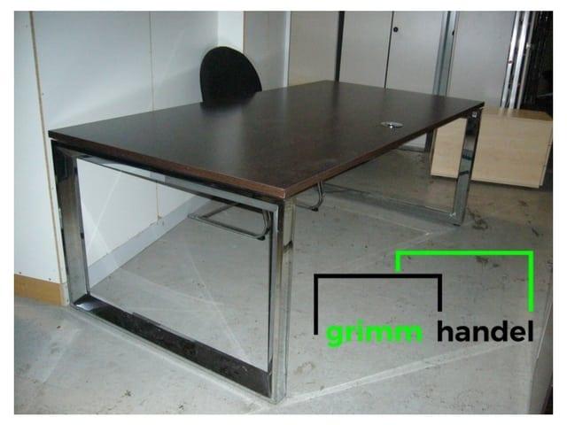 schreibtisch braun unsere artikel nr 920 grimm m belhandel. Black Bedroom Furniture Sets. Home Design Ideas
